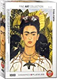 EuroGraphics Self Portrait with Thorn Necklace and Hummingbird by Frida Kahlo 1000 Piece Puzzle