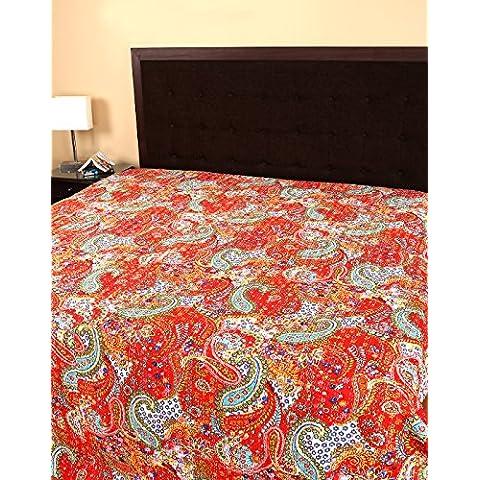 Designer Biancheria da letto Copriletto Bedding lenzuola stampa floreale Kantha Doppia biancheria da letto