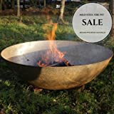 *SALE* 120cm Mild Steel Fire Pit with 2 x FREE Pouches of Eco Fire Lighters/Burner/Outdoors/Heater/Fire Bowl