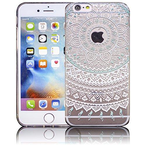 Apple iPhone 6 / iPhone 6S - Design 11 Silikon Crystal Kristall clear transparent durchsichtig Schutz-Hülle Hülle weiche Tasche Cover Case Bumper Etui Flip smartphone handy backcover Schutzhülle Handy Design 4