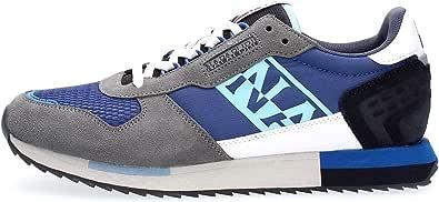 NAPAPIJRI Scarpe Sneakers Casual Uomo Blu Grigio Modello Virtus. Primavera Estate 2021