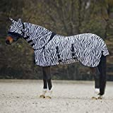 Best On Horse Fly Rug with Mask Zebra-4'0