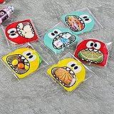 JZK 600 Divertente piccole bustine mostri trasparente cellophane autoadesive plastica buste porta confetti biscotti caramelle sacchetti bomboniere confettata per festa compleanno battesimo bambini