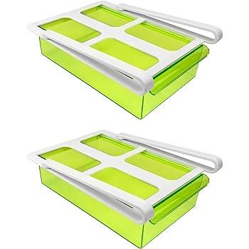 klemm schublade f r k hlschrank 3er set transparent schublade aufbewahrungsbox k hlschrankbox. Black Bedroom Furniture Sets. Home Design Ideas