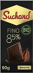 Suchard Chocolate Negro Bio Ecológico, 85% de Cacao Trinitario, 90g