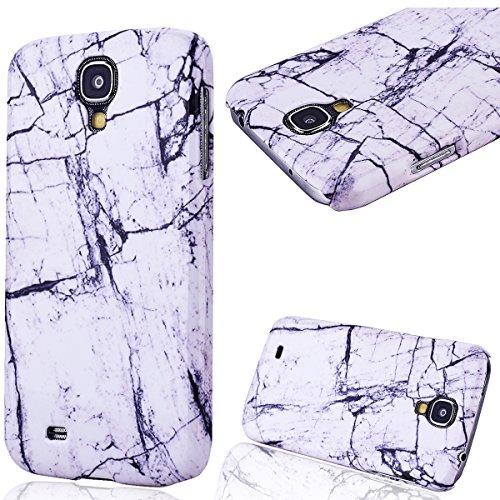 GrandEver Hard Case per Samsung Galaxy S4, Design Marmo Modello Rigida PC Caso Custodia, Ultra Sottile Dura Protettiva Anti-urto Durable Cover - Marble Nero con Bianco Case