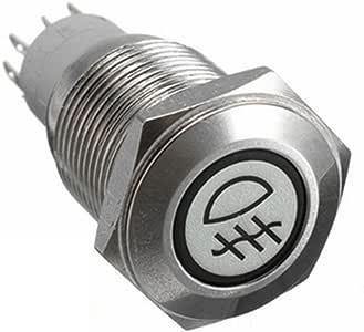Mintice trade; 16mm KFZ Kippschalter Wippschalter Druckschalter Schalter Drucktaster 12V Gelb LED Licht Metall Lautsprecher Horn