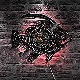 Unbekannt Lyq 12' Gold Fisch Dekorativ Mauer Licht Mit Farbe Ändern Schwarz Licht Handarbeit Mauer Uhr Einzigartig Geschenk Idee Zum Beste Freunde
