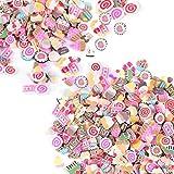 2000Stück Fimo-Teile / Fimo-Scheiben für Bastelprojekte, Nagelverzierung, Schleim, Polymerton, von Hongtian Cake
