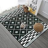 KOOCO 100X150CM Nordic Style Carpets for Living Room Children Rugs for Bedroom Home Decor Floor Mat Soft Children Carpet Rug, Light Grey, 100CM X 150CM