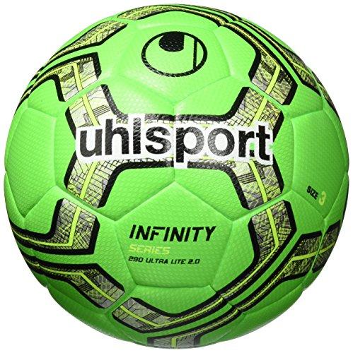 uhlsport Infinity 290 Ultra Lite 2.0 Fußball Ball, Fluo grün/Marine/Schwarz, 3 -