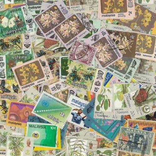 Collection de timbres Malaisie oblitérés - 400 timbres différents | Mode