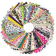 100Pcs Retales de Tela Algodón Material para Patchwork Coser Manualidades (10x10cm) Fabric Craft DIY