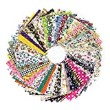100Pcs(10x10cm) Retales de Tela Algodón Material para Coser Manualidades DIY Costura
