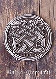 Cinturón Hebilla–Perros celta plata o bronce–Medieval–Vikingo plata