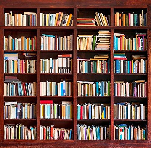 5x 2,1Vinyl Digital Bücherregal Study Room Bibliothek Bücher Wand Fotografie Studio Hintergrund (Bücherregal-bibliothek-wand)