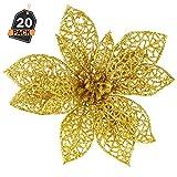 Cantidad:  20 adornos de estrella de color oro  Material: Plástico + polvo de oro   Tamaño:  15 cm de diámetro y 25 cm de lazo (envuelto individualmente)   Asegúrate de comprar tus productos con KOMPANION para que puedas recibir el producto C...