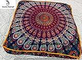 Indischen Mandala Tapisserie Hundebett, Mandala Kissenbezug, Boho Boden Kissen, Bohemian Bodenkissen, Boho Platz, Boho Decor, Hippie Kissen Boho Hund oder Katze Bett Cover