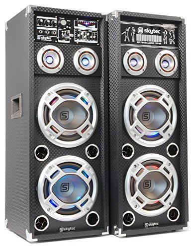 Skytec KA-28 - Kit bafle karaoke con luces