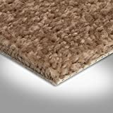 BODENMEISTER BM72182 Teppichboden Auslegware Meterware Hochflor Shaggy Langflor Velour beige braun 400 cm und 500 cm breit, verschiedene Längen, Variante: 2 x 4 m