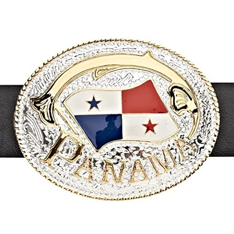 Iced Out Bling Ceinture - PANAMA DRAPEAU or /