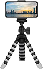 Yantralay 12 inch Flexible Gorillapod Mobile Tripod with Quick Release Plate, Mobile Holder, Tripod Mount & Rotating Ball Head for DSLR, Action Cameras & Smartphones (White)