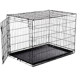 Douge Couture Metal Dog Cage, 36-inch (Black)