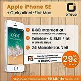 Apple iPhone SE (silber) mit 128 GB internem Speicher, Otelo Allnet-Flat Max inkl. 8 GB Datenvolumen mit 42,2 Mbit/s inkl. Telefonie- und SMS-Flat, EU-Roaming, 24 Monate min. Laufzeit, mtl. € 29,99