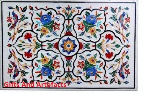 152,4x 91,4cm Rechteck weiß Marmor Konferenz Tisch Top Inlay Multi Color Flower Art
