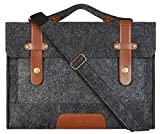 MOSISO Filz Sleeve Hülle für 13-13,3 Zoll MacBook Pro, MacBook Air, Notebook Computer, Laptop Schultertasche Umhängetasche mit Griff und Schulterriemen Bag, Schwarz