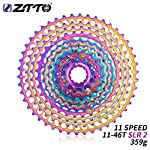 MeterMall ZTTO 11 Speed 11-46T SLR 2 Bicicletta Rainbow Cassette HG System 11s Ultralight Colorful Bicycle Volwheel