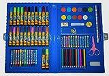 MALSET BLAU 86 Teile mit Kinder - Jungen / Mädchen für malen mit Filzstifte + Buntstifte + Farbkasten + viele Stifte 6 5 4 3 2 1