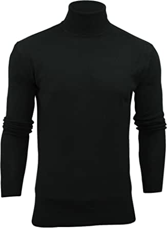 Mens Brave Soul Hume Designer Funnel High Roll Neck Cotton Knitted Jumper