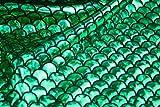 We Love Fabric Meerjungfrau Waage Spandex Fishtail dehnbar Badeanzug aus Stoff, grün, 1 m