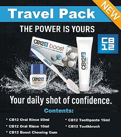 CB12Travel Pack (1x 50ml Mundwasser, 1x CB12Gum, 1x Zahnpasta 15ml, 1x Zahnbürste)