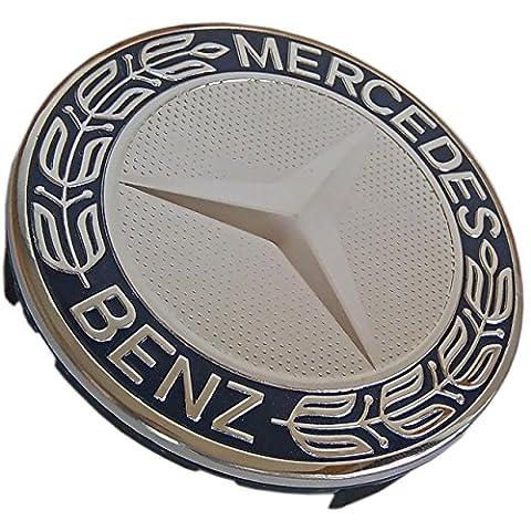Mercedes Benz Felgendeckel blau Lorbeeren 75mm–Ersatz