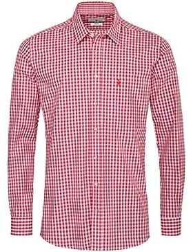 Almsach Trachtenhemd Veith Regular Fit in Rot inklusive Volksfestfinder
