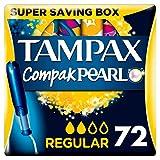 Tampax Compak Pearl Active Fresh Regular Tampons Applicator 4 x 18 - Super Saving Box