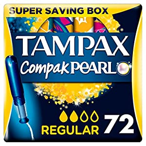 Tampax Compak Pearl Active Fresh Regular Tampons Applikator, 4Stück, 18-count