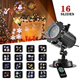 SENDOW Christmas Led Projector Light with 16 Switchable Patterns Waterproof Moving Rotating Landscape Spotlights Show for Christmas Halloween Birthday Wedding Party Outdoor Indoor Home Garden Decor