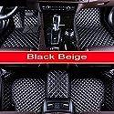 SIZHINIAN Luxury Car Floor mats for Mercedes Benz G350 G500 G55 G63 AMG W164 W166 M ML GLE X164 X166 GL GLS 320 350 400 420 450 500 550 Carpet,Black Beige