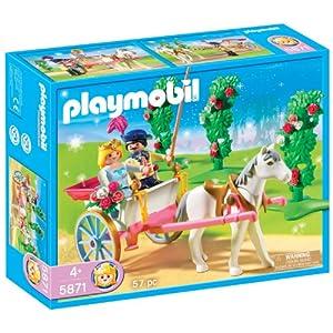 5871 Prinzessin und Prinz mit Pferd und Kutsche / Wagen