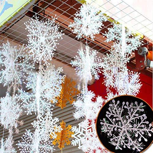 ße Schneeflocken Weihnachten Dekorationen Weihnachten Lieferungen hängen Kristallanhängern Baum (15cm) ()