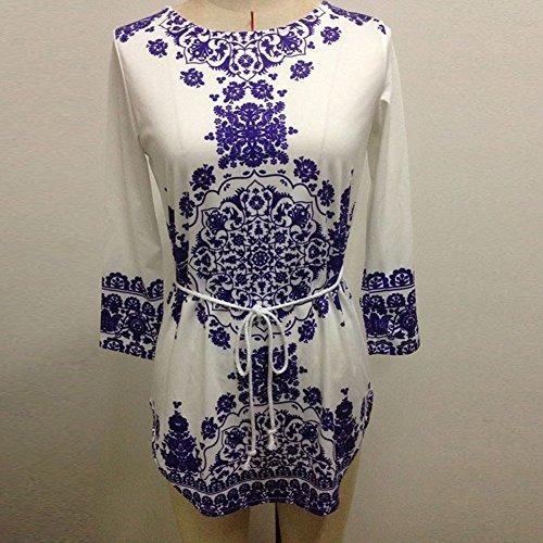 Etosell Femme Mousseline BOHO Occasionnels Court Mini Robe B68 Blanc