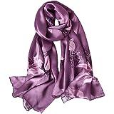 STORY OF SHANGHAI Bufandas de 100% Seda Flores Pañuelo de Morera Grande Mujer Chal Wraps Estolas Madre y Regalos Alta 170cm*5