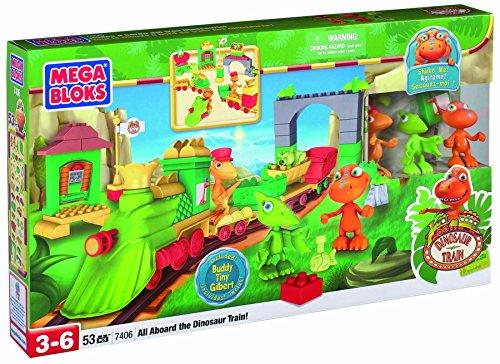 Mega Bloks First Builders 7406 Dino Tren Gran Playset