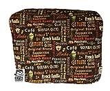 Cozycoverup Housse anti-poussière pour Kenwood Nourriture mixeur en Motif mots Café (MultiOne Khh326wh Khh321si)