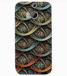 ColourCraft Beautiful Pattern Design Back Case Cover for HTC ONE M8
