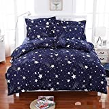 Home Ecstasy Glace Cotton 3D HD Flower Printed Bedsheet with 2 Pillow Covers (Purple and White)