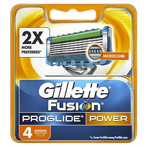 Gillette Fusion Men's ProGlide Power Razor Blades - 4 Blades
